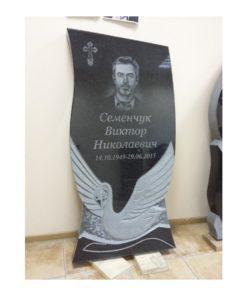 Памятник резной с лебедем 3084